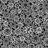 Flower seamless (black and white colors). Flower seamless background(black and white colors Royalty Free Illustration