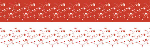Flower seamless border pattern Stock Image