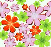 Flower seamless bright background. Vector Royalty Free Stock Photos