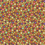 Flower seamless color pattern Stock Images