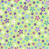 Flower seamless color pattern Royalty Free Stock Photo