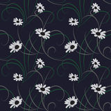 Flower seamless dark blue background Royalty Free Stock Images