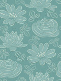 Flower seamless pattern. The blue flower seamless pattern Royalty Free Stock Photo