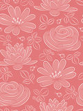 Flower seamless pattern. Pink seamless pattern with flowers and ladybird Royalty Free Stock Photography