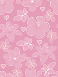 Flower seamless pattern. The pink flower seamless pattern Royalty Free Stock Image