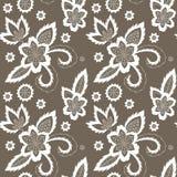 Flower seamless pattern. Hand drawn illustration of the flower seamless pattern Royalty Free Stock Image