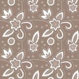 Flower seamless pattern. Hand drawn illustration of the flower seamless pattern Stock Photography