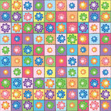 Flower seamless pattern. All kinds of different color modes (print, background, wallpaper Royalty Free Stock Photo