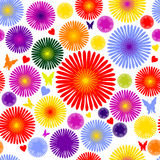 Flower seamless pattern. This image is a vector illustration and can be scaled to any size without loss of resolution. This image will download as a .eps file Royalty Free Stock Images