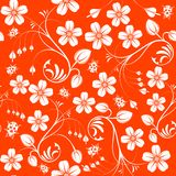 Flower seamless pattern Stock Images