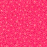 Flower seamless pattern. Abstract vector seamless pattern with stylized flowers in pink and creamy colors Stock Photography
