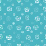 Flower seamless pattern background Stock Image
