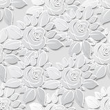 Flower seamless pattern background with 3D elements with shadows Stock Image