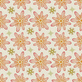 Flower Seamless Pattern in Beige and Kaki - Pale Pastel Colors Royalty Free Stock Image