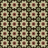 Flower seamless pattern (black) Stock Images