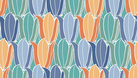 Flower seamless pattern with bluebells. Patterns can be used as background, fabric print, surface texture, wrapping paper, web page backdrop, wallpaper. Vector Stock Photography