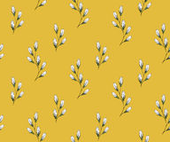 Flower seamless pattern with bluebells. Patterns can be used as background, fabric print, surface texture, wrapping paper, web page backdrop, wallpaper. Vector Stock Photo