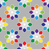 Flower seamless pattern bright colors. Vector illustration Stock Images
