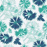 Flower seamless pattern with cornflowers. Vector illustration Royalty Free Stock Photo