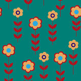 Flower seamless pattern with daisies Stock Photos