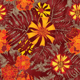 Flower seamless pattern. Royalty Free Stock Image