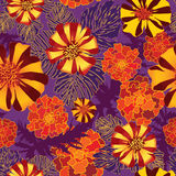Flower seamless pattern. Stock Photos