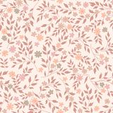 Flower seamless pattern. Floral garden background Stock Photo