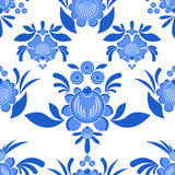 flower seamless pattern. Flowers and leaves ornament. stock illustration