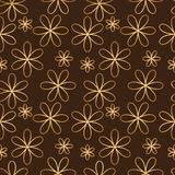 Flower seamless pattern golden color Royalty Free Stock Photos