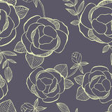 Flower seamless pattern with hand drawning flowers. Flower seamless pattern with hand drawning flower Royalty Free Stock Images