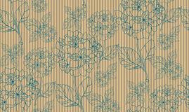 Flower seamless pattern with hydrangeas. Pattern can be used as wedding background, fabric print, surface texture, wrapping paper, web page backdrop, wallpaper Royalty Free Stock Photos