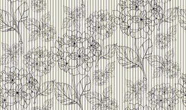 Flower seamless pattern with hydrangeas. Pattern can be used as wedding background, fabric print, surface texture, wrapping paper, web page backdrop, wallpaper Royalty Free Stock Images