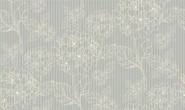 Flower seamless pattern with hydrangeas. Vector illustration Stock Photos