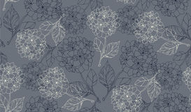 Flower seamless pattern with hydrangeas. Vector illustration Royalty Free Stock Image