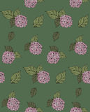 Flower seamless pattern with hydrangeas. Vector illustration. EPS 8 Royalty Free Stock Image