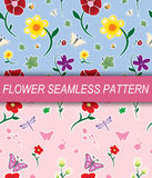 Flower seamless pattern. Illustration of flower seamless pattern Stock Images