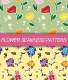 Flower seamless pattern. Illustration of flower seamless pattern royalty free illustration