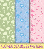 Flower seamless pattern. Illustration of flower seamless pattern Stock Photography
