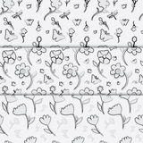 Flower seamless pattern. Illustration of flower seamless pattern vector illustration