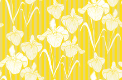 Flower seamless pattern with irises. Patterns can be used as background, fabric print, surface texture, wrapping paper, web page backdrop, wallpaper. Vector Stock Photography