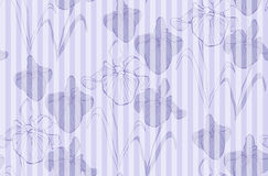 Flower seamless pattern with irises. Patterns can be used as background, fabric print, surface texture, wrapping paper, web page backdrop, wallpaper. Vector Royalty Free Stock Photography