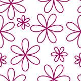 Flower seamless pattern pink color Stock Photos