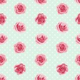 Flower seamless pattern with roses Royalty Free Stock Images