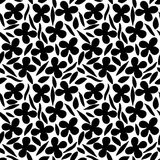Flower seamless pattern 70s fashion style. Hand drawn illustration Stock Photos