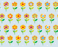 Flower seamless pattern simple and cute Stock Photos