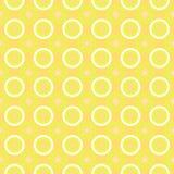 Flower seamless pattern. Simple stylish texture. Regular pattern. Yellow Stock Photo