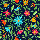 Flower seamless pattern spring color background Royalty Free Stock Photo