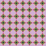 Flower with seamless pattern Stock Photography