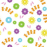 Flower seamless pattern Stock Photography