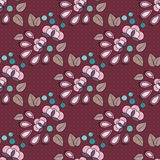 Flower seamless pattern. Vector seamless flower colorful pattern Royalty Free Stock Photography